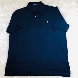 Polo Ralph Lauren Navy Mercerized Pima Mesh Shirt
